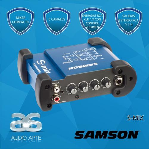 samson s-mix, mixer compacto, 5 canales