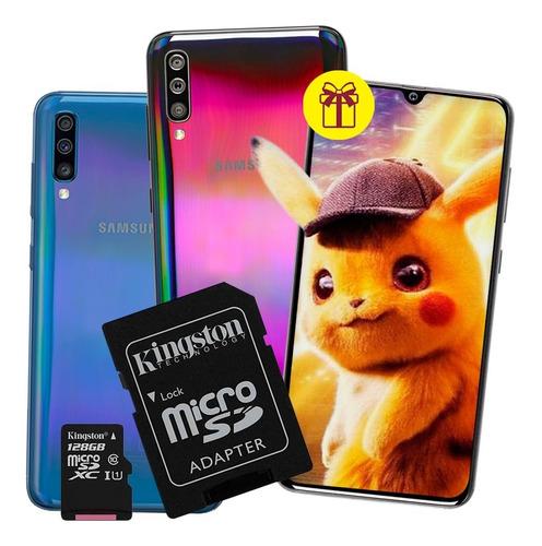 samsung a70 2019 6.7´ 128 /6gb+ case+ auriculares+ regalo pm