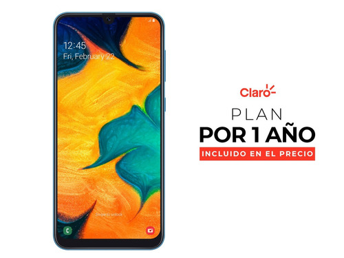 samsung galaxy a30 64gb - black + plan de 4gb año incluido