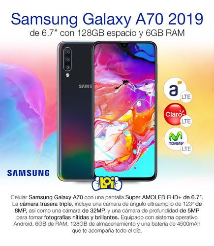samsung galaxy a70 128gb 6gb oficial + estuche oferta loi