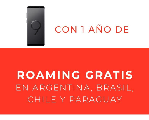 samsung galaxy s9+ - black + plan de 2gb por un año incluido
