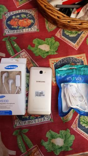 samsung j5 prime dorado libre nuevito con accesorios