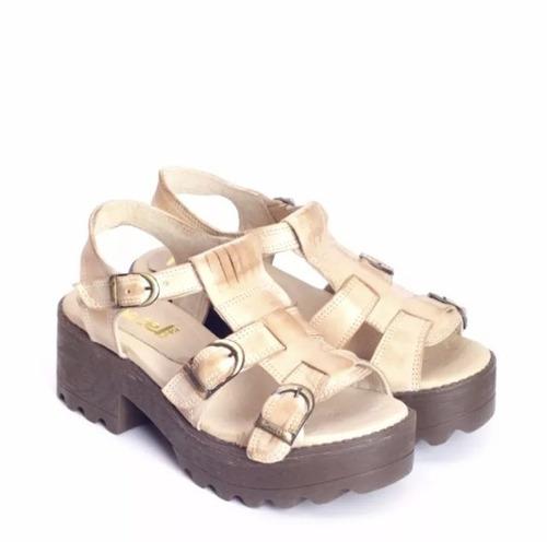 sandalia de cuero marcel calzados (cod.17006) #oca