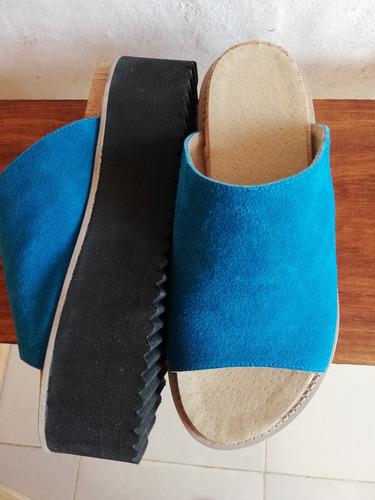 sandalias dama en cuero legítimo