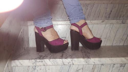 sandalias  de dama plataforma