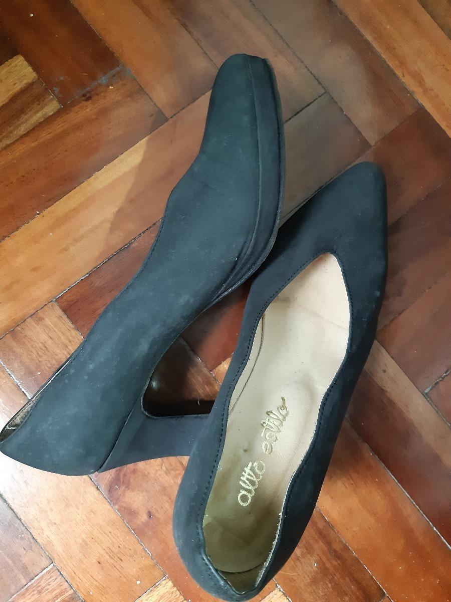 Sandalias Comodos Talle Con Zapatos 00 Negros Taco Cuero 37890 76IfgyvYb