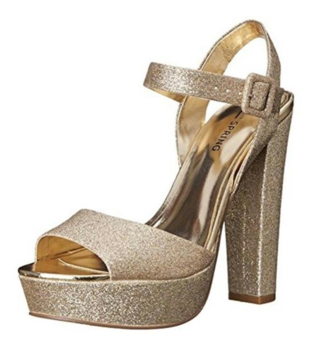 diseño de calidad 3df6a 1b880 Sandalias Zapatos Plataforma Dorados Fiesta. 37.5 Serenity