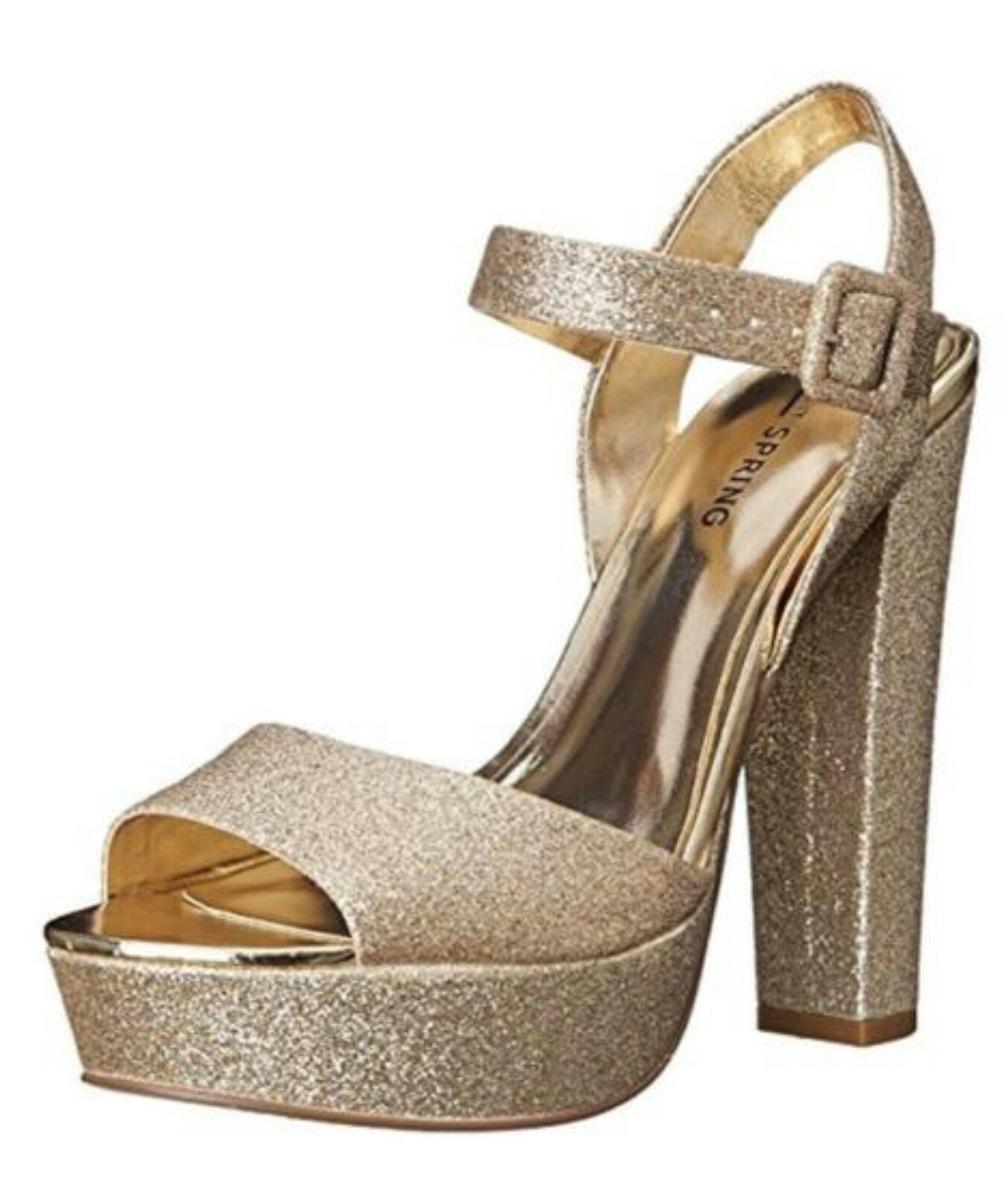 53391178 sandalias zapatos plataforma dorados fiesta. 37.5 serenity. Cargando zoom.