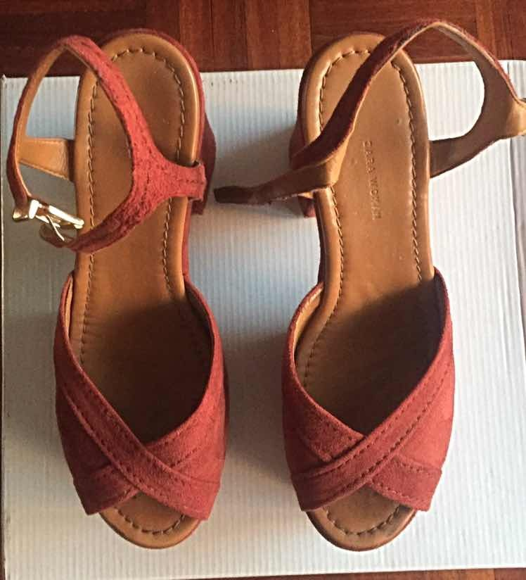 De En Zara Gamuza 38690 00 Sandalias Color Terracota Talle QdCeWrxBo