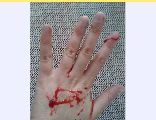 sangre falsa más latex halloween efectos maquillaje fx cara