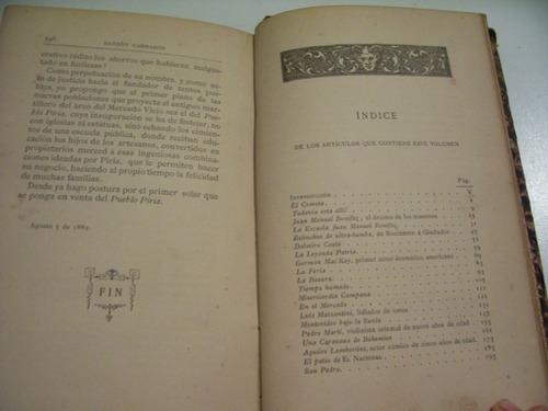 sansón carrasco - colección de artículos - 1884 - montevideo