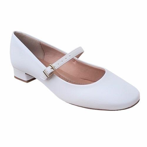 sapato branco boneca enfermagem noiva daminha salto baixo