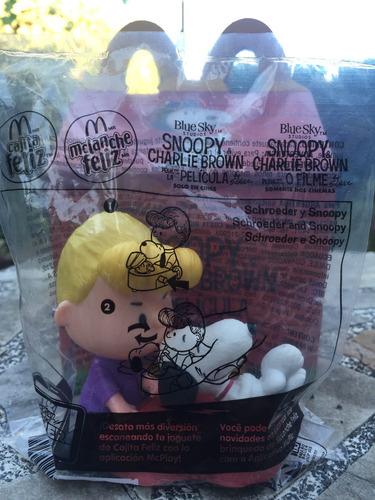 schroede y snoopy coleccion mc donalds 2016 en bolsa peanuts