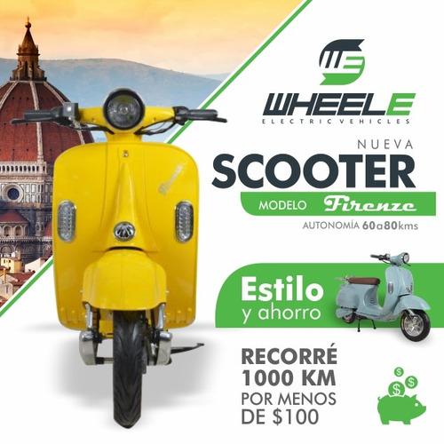 scooter electrico wheele firenze tipo vespa/80 kms autonomia