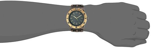 sean john hombres reloj de cuarzo de metal y acero inoxid