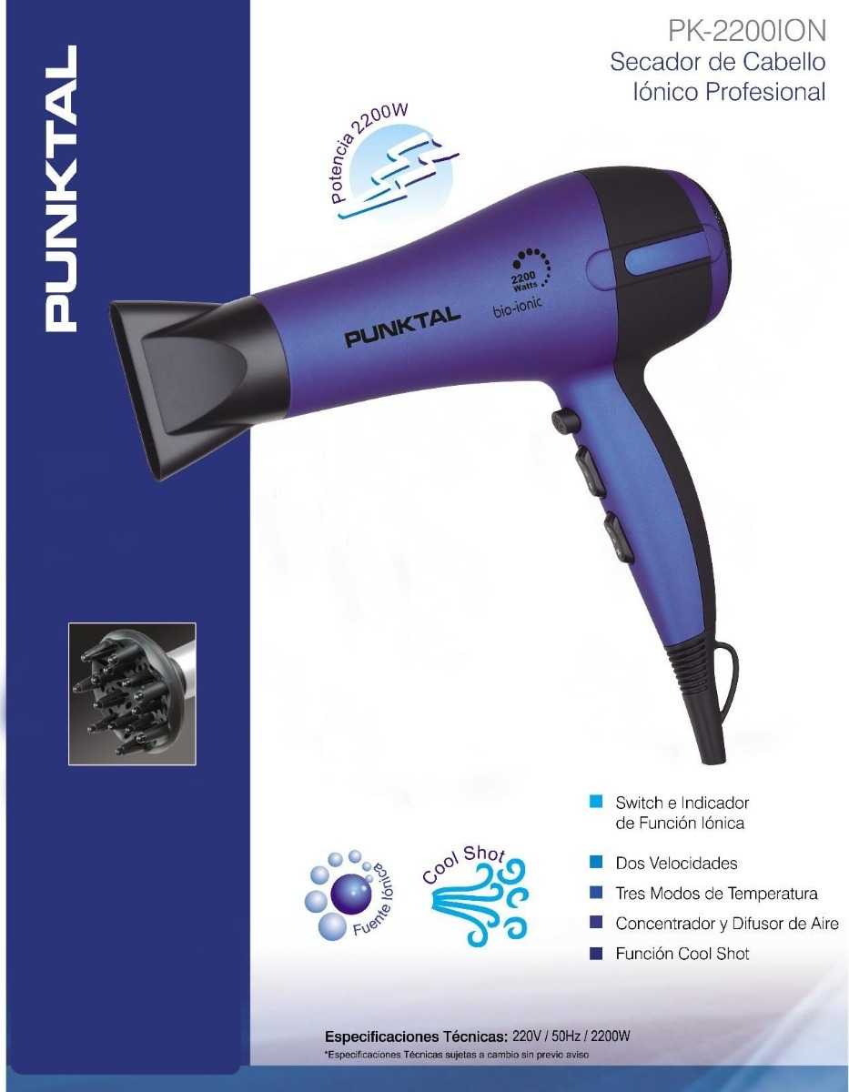 secador de pelo iónico profesional punktal. Cargando zoom. 4eca9b5e83d8