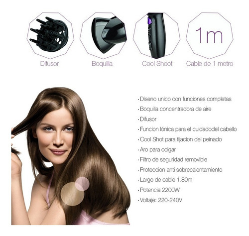 secador de pelo xion función iónica y cool shoot oferta loi