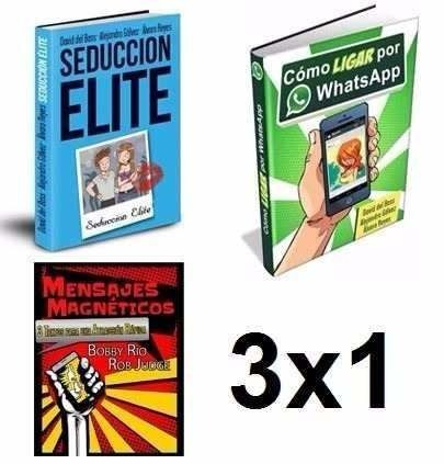 seduccion elite + ligar por whatsapp y mas! 7 libros digital
