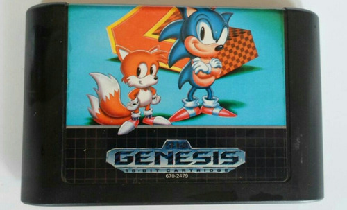 sega genesis sonic hedgehog 2 cartucho retro usado off !