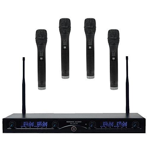 seismic audio sa u4hh4 4 channel uhf wireless microphone