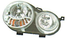 semioptica vw volkswagen polo 02/05 der. h1/h7