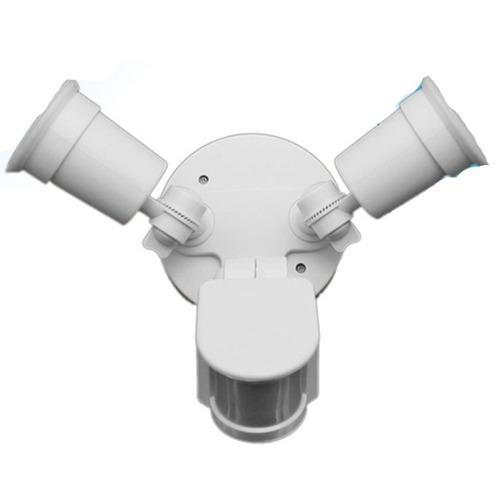sensor de movimiento con dos portalámparas - electroimporta