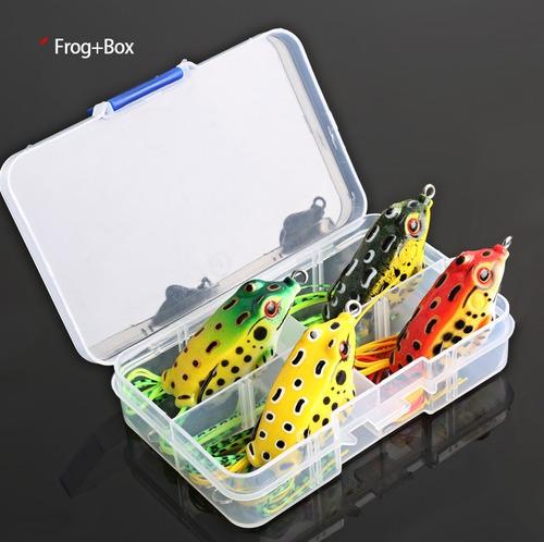 señuelos rana antienanche   caja de 4.grande a todo  el pais