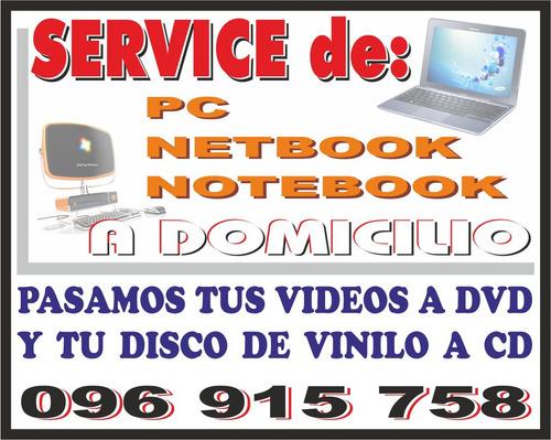 service y reparación de pc y notebook a domicilio