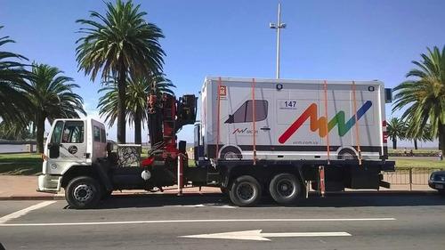 servicio camión grua carga traslado de contenedores .