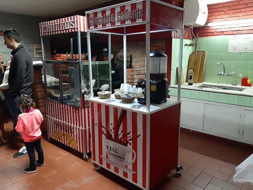 servicio de churros y chocolate caliente