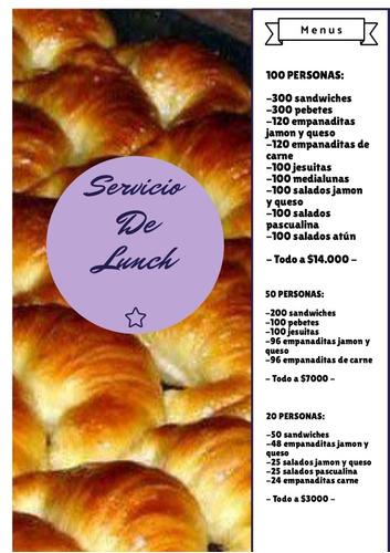 servicio de lunch