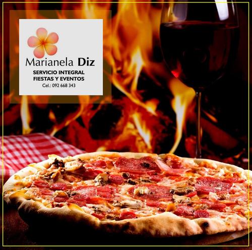 servicio de pizzas.