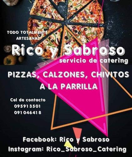 servicio de pizzas rico y sabroso