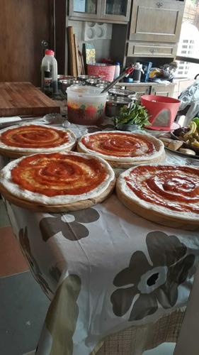 servicio pizzas 30 cmm para parrilla u horno envío sin costo