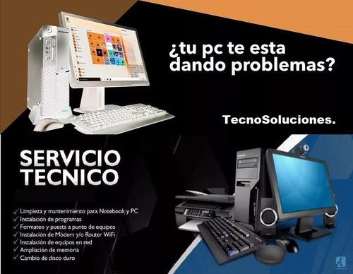 servicio técnico pc notebook reparación instalación windows