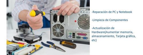 servicio técnico, reparación pc, notebook, armado de equipos