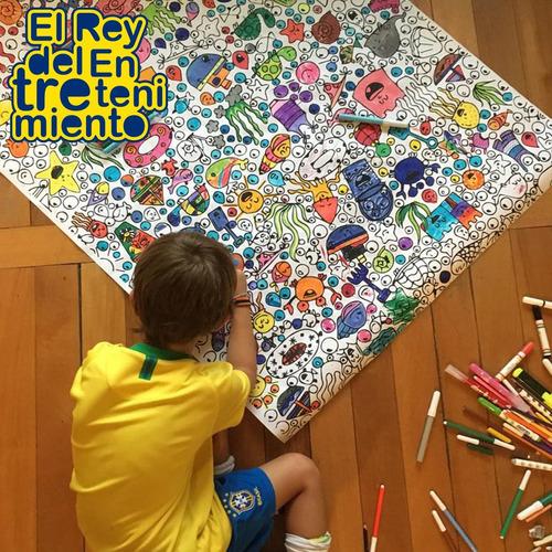 set 3 poster gigantes p/ pintar diseño+ regalo giotto el rey