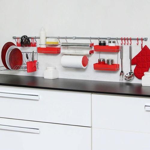 set cocina escurridor aereo metaltru barra colgante premium
