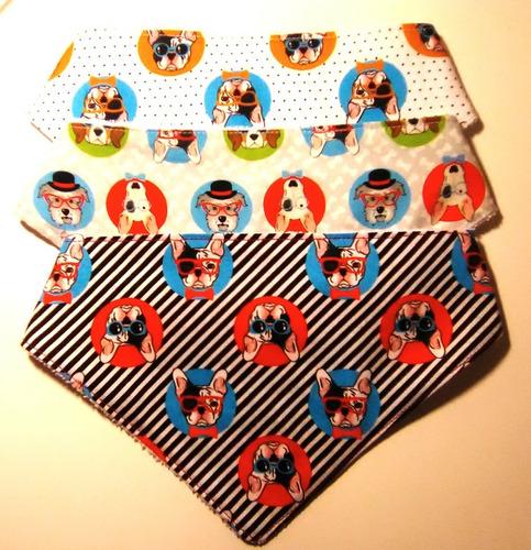 set de 3 baberos bandana