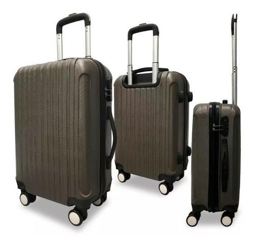 set de 3 valijas rígidas resistentes impermeables 4 ruedas