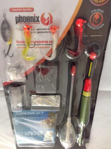 set de accesorios pesca 10 piezas