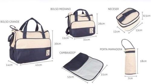 set de bolsos maternales 5 piezas. excelente calidad