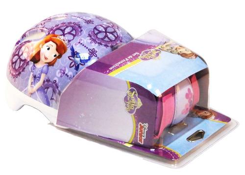 set de casco y protección princesa sofía original disney