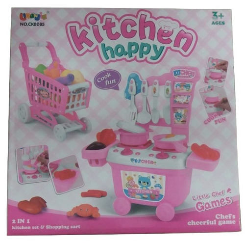 set de cocina y carrito con accesorios - juguetes - niños