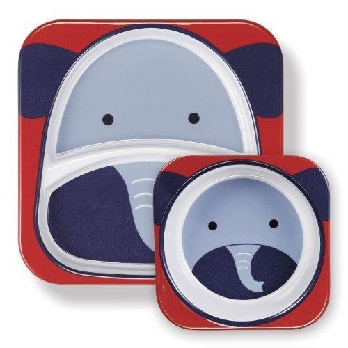 set de dos platos para bebe skip hop elefante