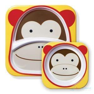set de dos platos para bebe skip hop mono