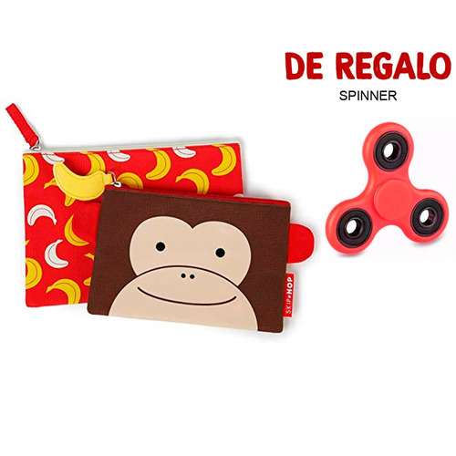 set de dos sobres mono para niños skip hop