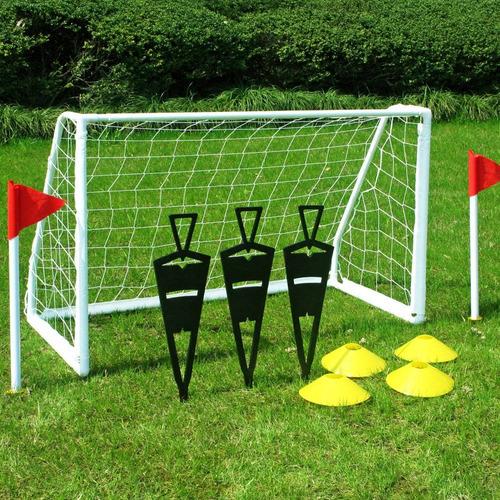 set de entrenamiento fútbol escuelita niño niña con arco