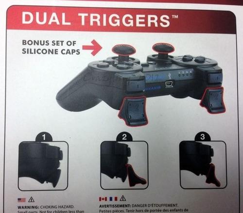 set de gatillos xtra soporte  para control de playstation 3