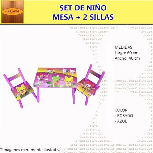 set de niño - infantil -sillas - dormitorio - comedor - lcm